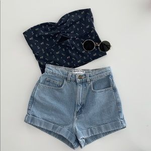 💙 high waisted jean short 💙
